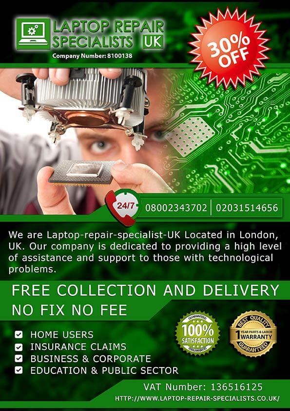 Laptop Repair Specialists Flyer Creation