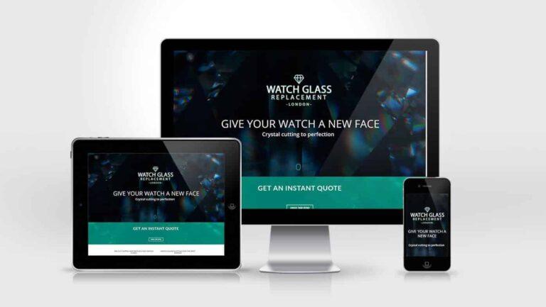 Watch Glass Replacement Website Design