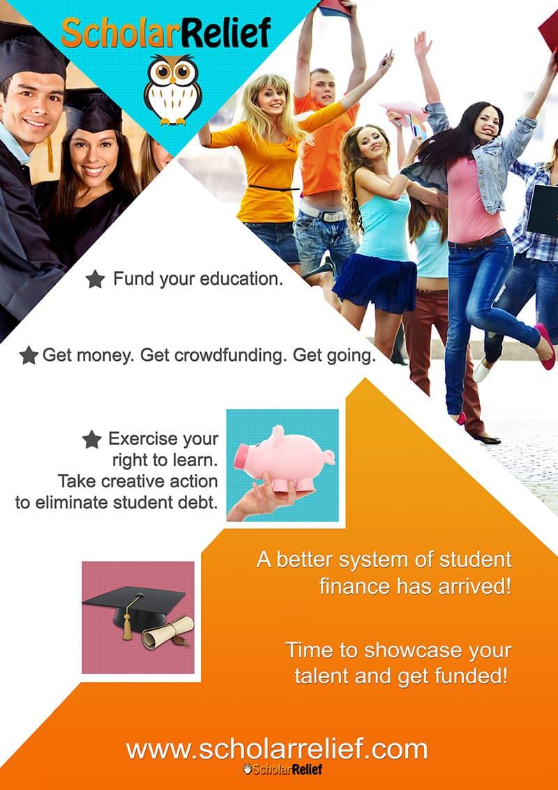 Scholar Relief Flyer Graphic Design